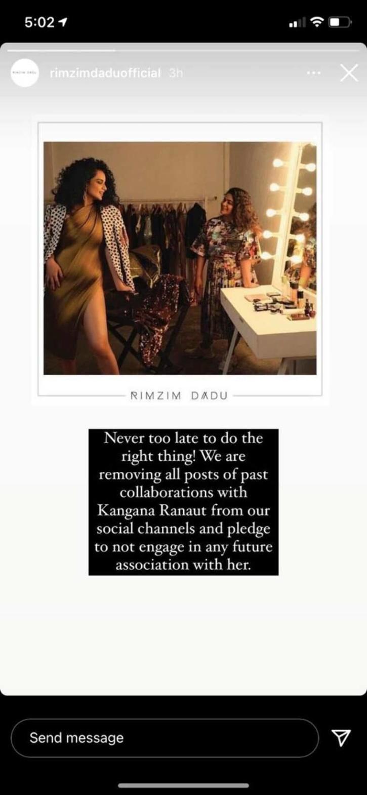 Rimzim Dadu / Instagram Story
