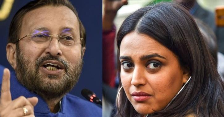 Swara Bhasker questions Union Minister Prakash Javadekar's statement on India to be fully vaccinated by December 2021