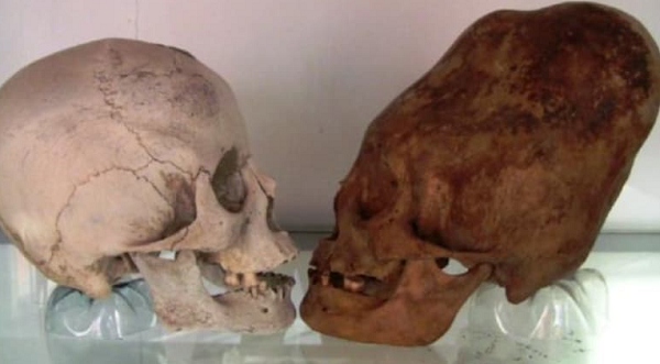 The post was linked to a video that contained footage of the skulls that were found in the 1920s by Peruvian archaeologist Julio C. Tello in Huancavelica, Peru.