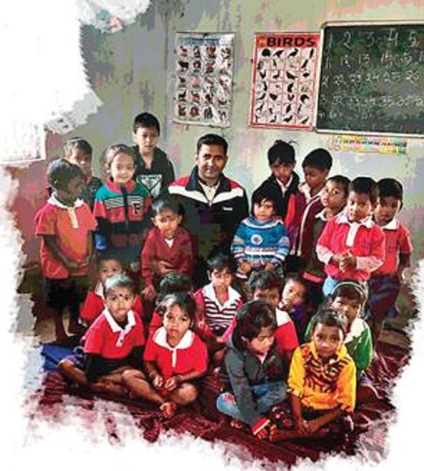 Panda's aim is to inspire these children to study further; he began his mission with Vikas Nursery School - an English medium school.