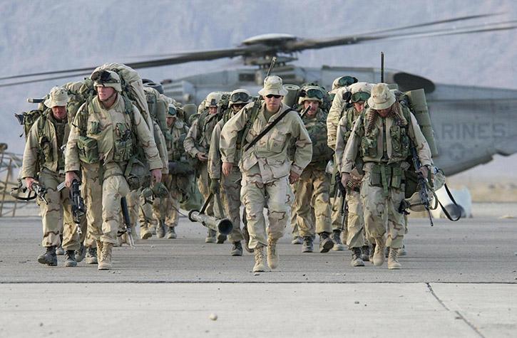 US enters Afghanistan