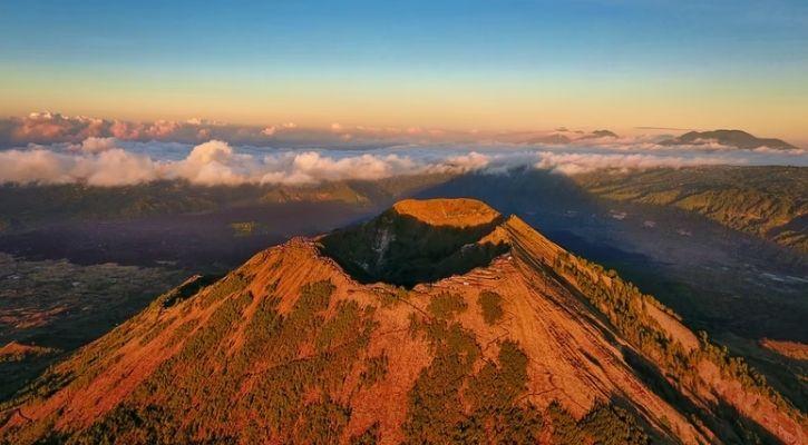 volcanic mountain cone