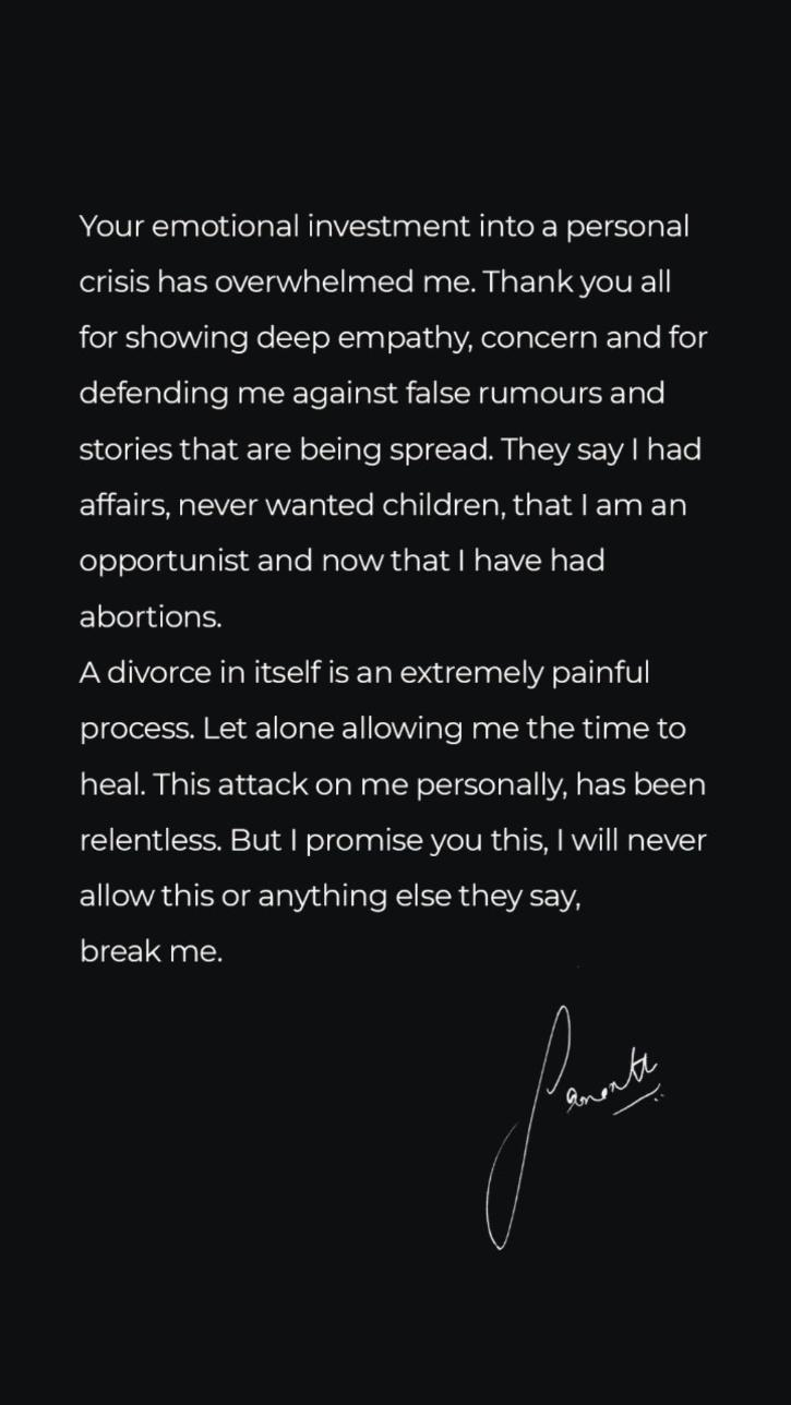 Samantha Ruth Prabhu Issues A Dignified Statement Refuting Claims That Affairs And Abortions Led To Her Divorce