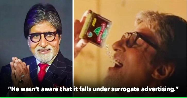 Amitabh Bachchan Refuses To Be A Part Of Pan Masala Brand