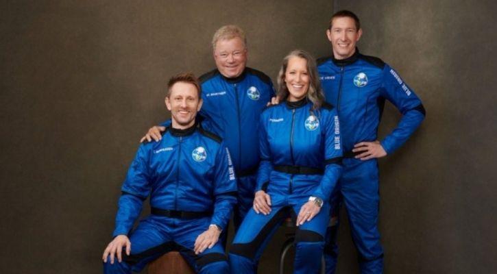William Shatner and Blue Origin crew