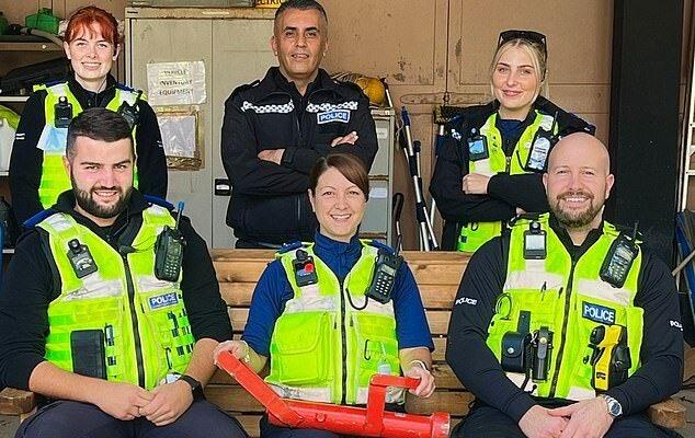 Police Officers who carried out the raid