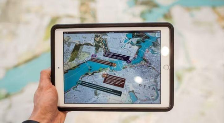 Augmented reality app demo on iPad