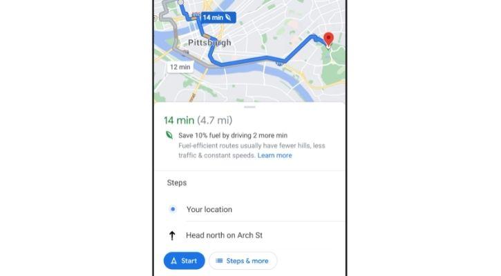 google maps fuel