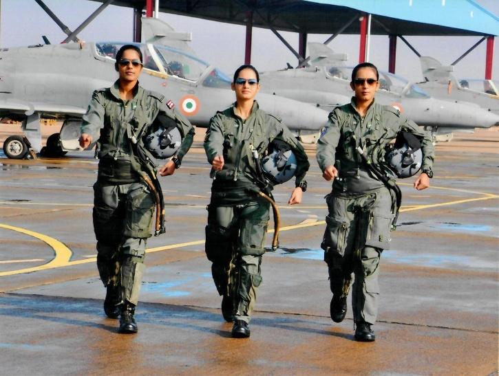 First Three Women Fighter Pilots of Indian Air Force