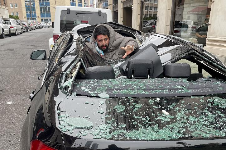 Man survives 9-storey fall