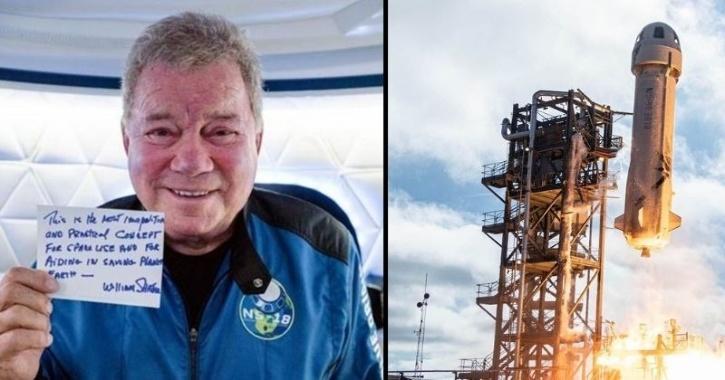 William Shatner oldest man in space