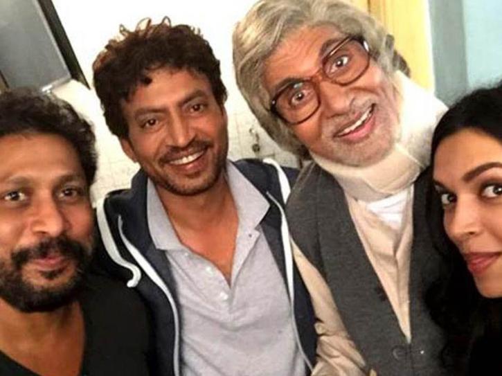 shoojit sircar and irrfan khan during the shoot of Piku.