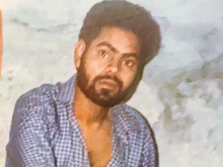 A photo of young Sanjay Mishra.
