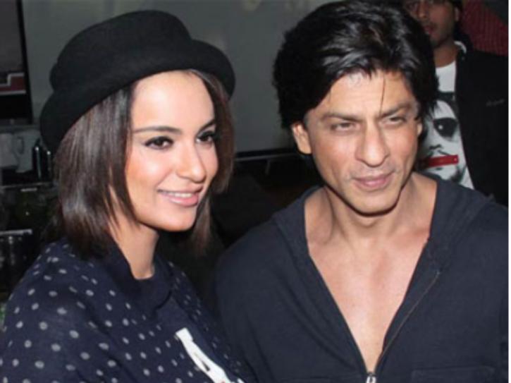 A still of Kangana Ranaut with Shah Rukh Khan