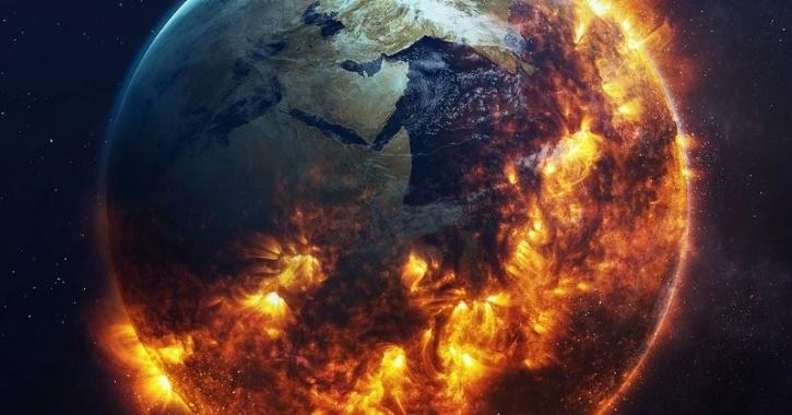 earth extinction event illustration