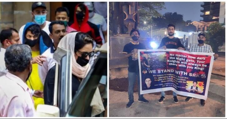 Fans Gather Outside Mannat For Supporting SRK, Aryan Khan