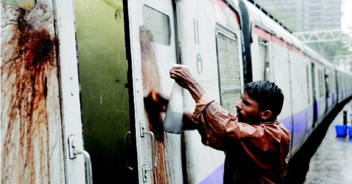 cleaning spit stains on trains