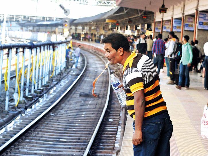 spitting railway stations