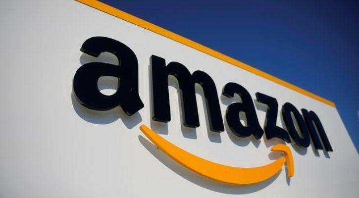 The logo of Amazon is pictured here