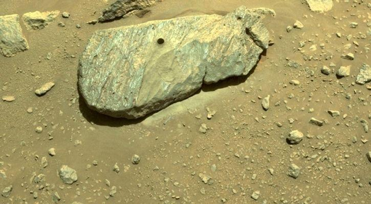 The rock drilled by NASA