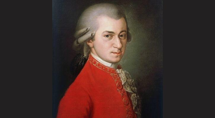 Mozart is depicted here