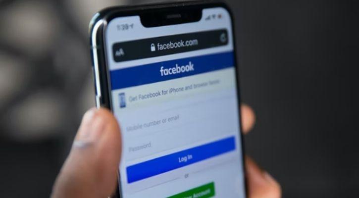 Facebook is seen here