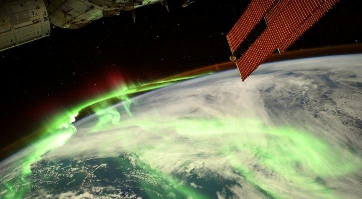 Stunning Image Of Aurora From ISS Shows Earth Gleaming In Green