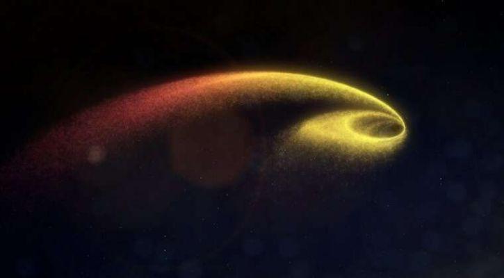 A black hole eats a star