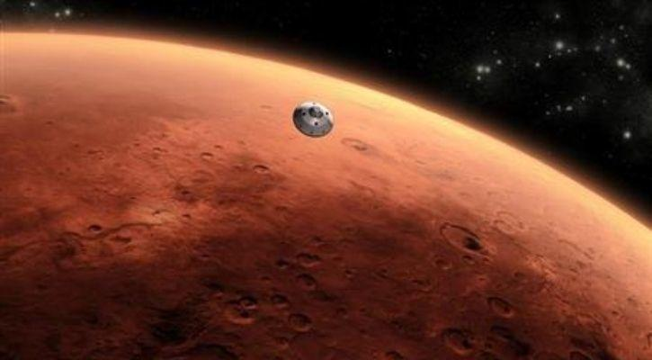 Mars in space