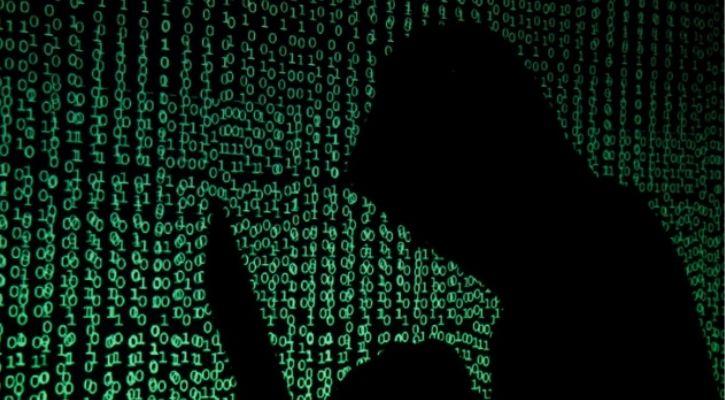 A hacker is seen here