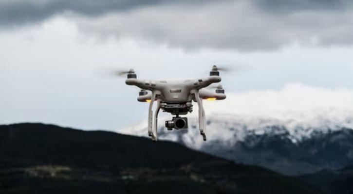 A drone is pictured here