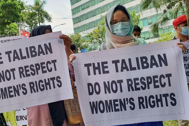 women taliban Pakistan protest