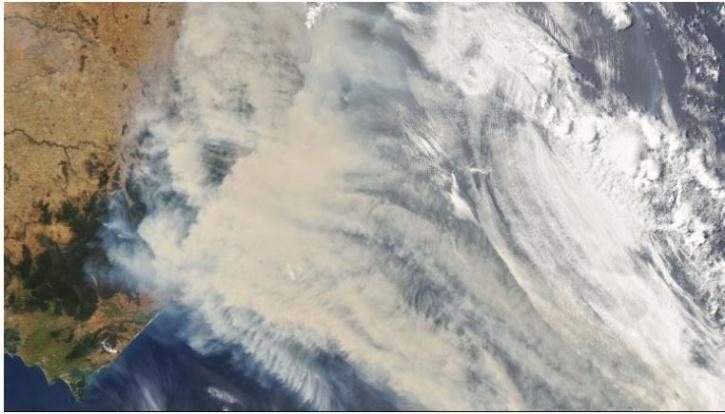 The smoke not only increased the country