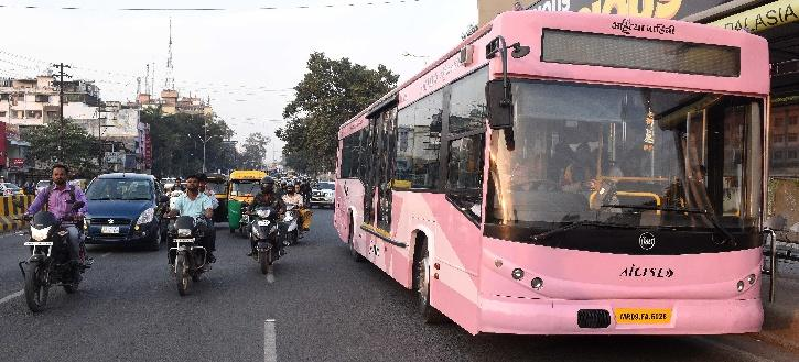 Indore Pink City Bus For Women