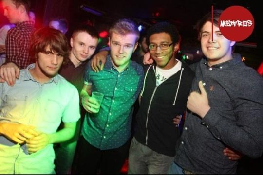 Jordan Vidal with his friends