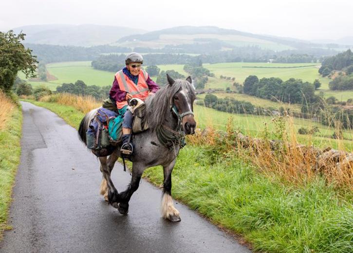 Jane Dotchin covers 25-30 km every day