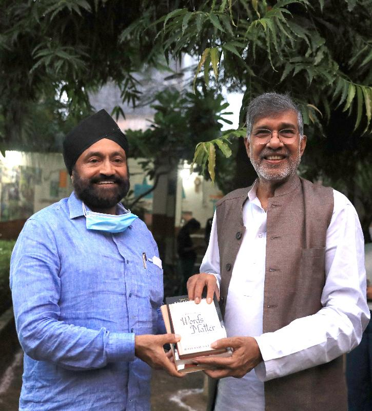 Sukhpal Singh Ahluwalia & Kailash Satyarthi