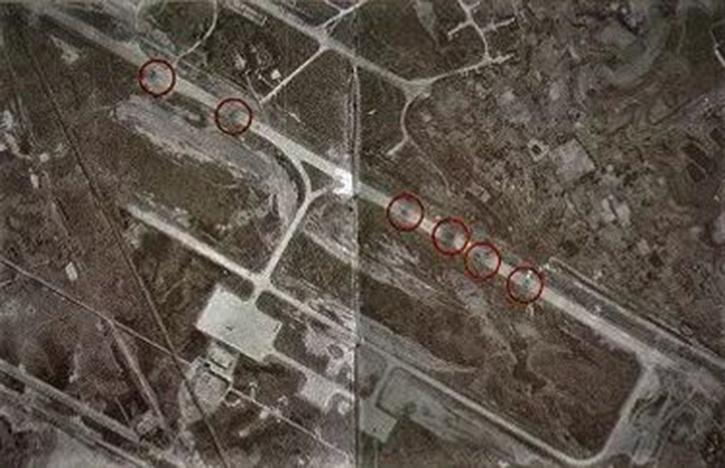 The aerial reconnaissance photo of Dhaka runway after it was bombed by the IAF in 1971 war