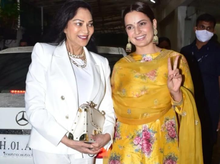 Kangana Ranaut and Simi Garewal