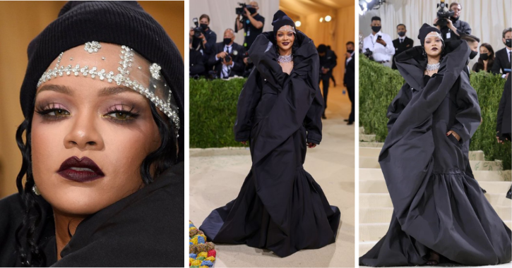 Rihanna Wears A Floor-Sweeping Jacket At Met Gala Red Carpet & Fills Internet With Funny Memes