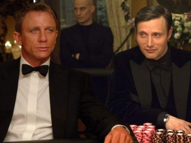 Mads Mikkelsen alias Le Chiffre in the film Casino Royale
