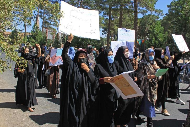 Women Protest against Taliban in Afghanistan
