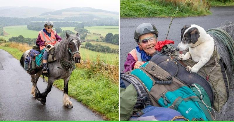 Meet 80-Year-Old Jane Dotchin Who Treks 1,000 Km Every Year With Her Horse And Dog thumbnail