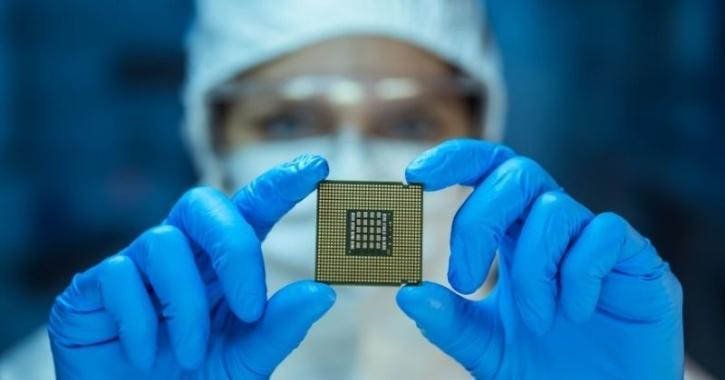 microchip in hand