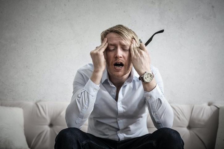 guy very stressed