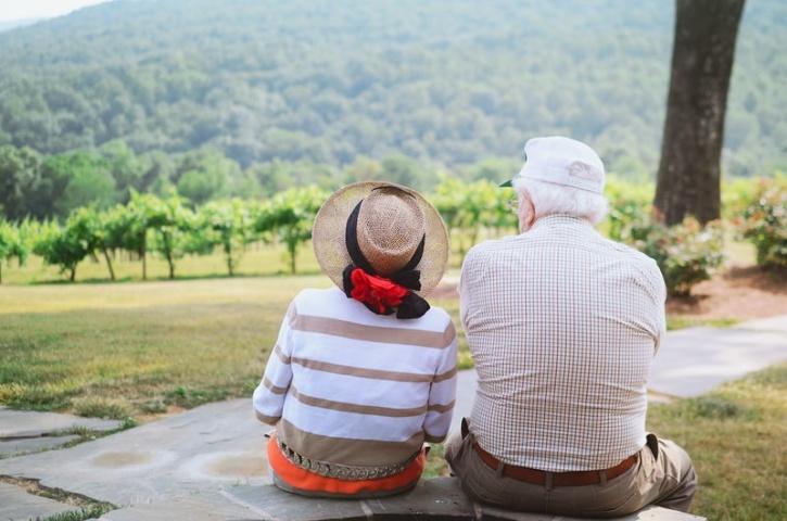 grandparents sitting
