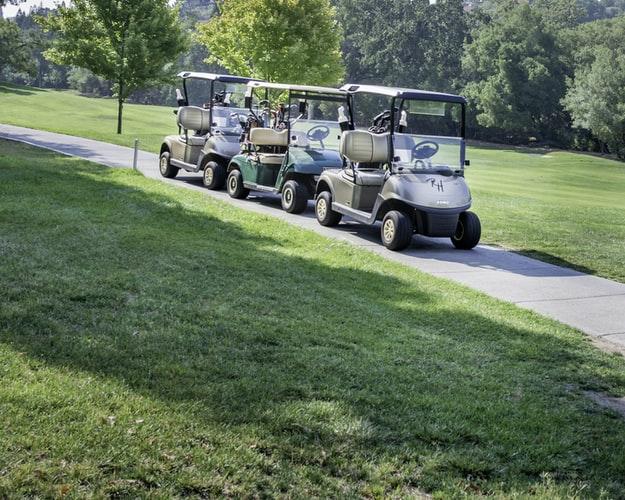 golf cart moving