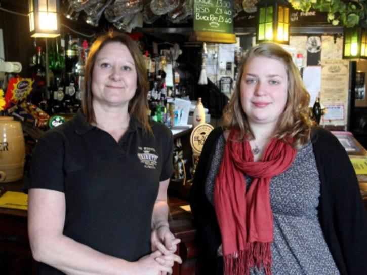pub-landlord with daughter