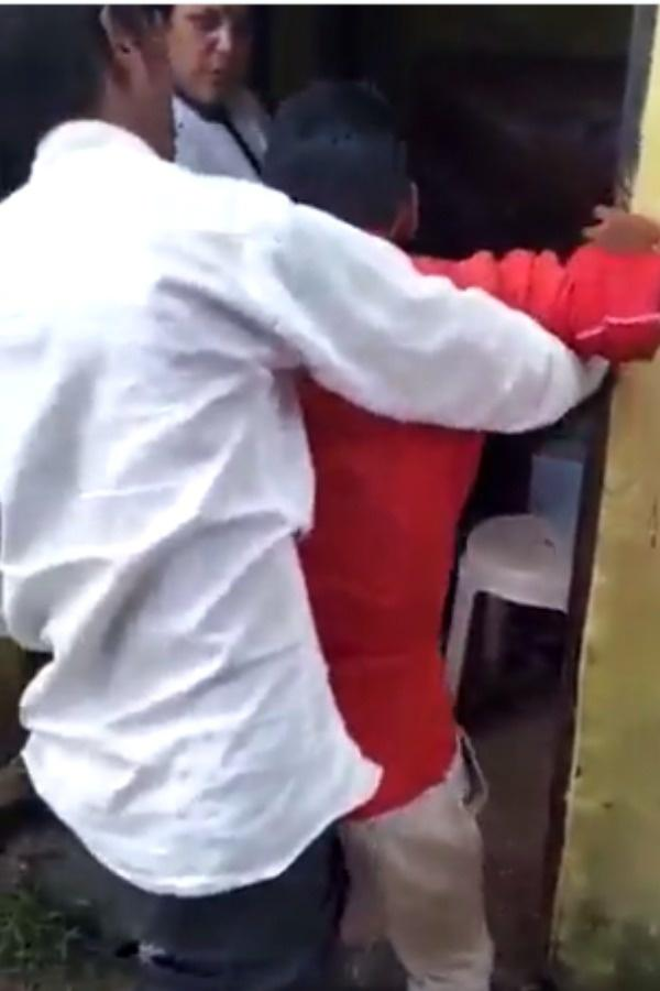 friends pushing man to get vaccinated