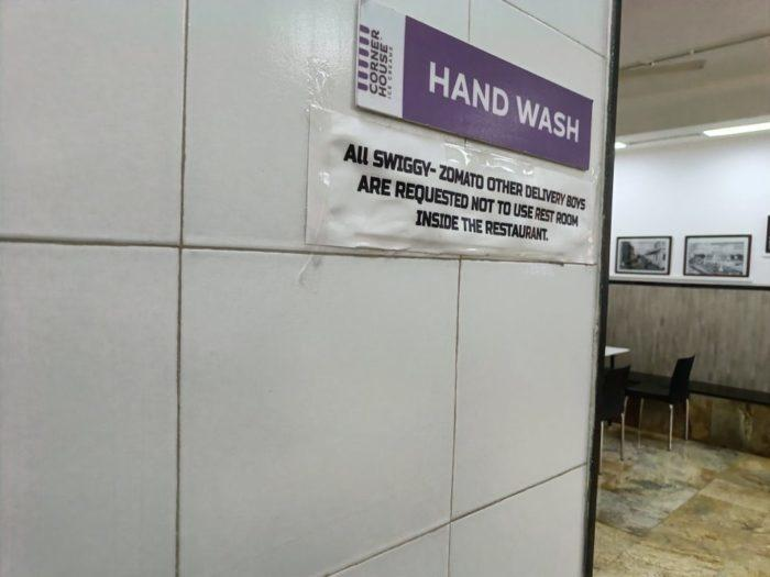 Restaurant Bans Food Delivery Executives From Using Their Washroom